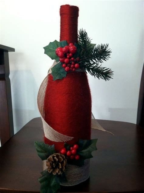 creative wine bottles packaging  christmas  great