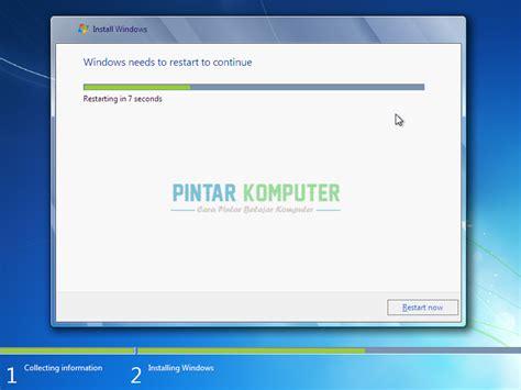 tutorial install ulang windows 7 ultimate dengan flashdisk cara instal ulang windows 7 dengan flashdisk lengkap