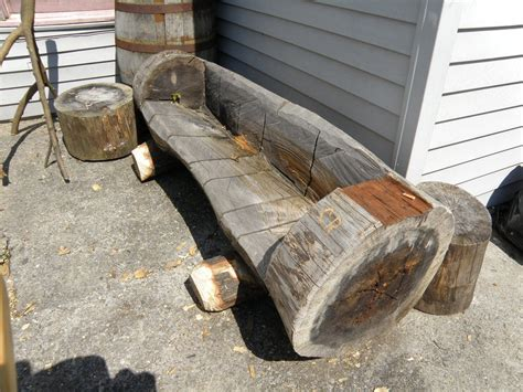how to make a bench from a log pine log bench by backwoodsboy lumberjocks com