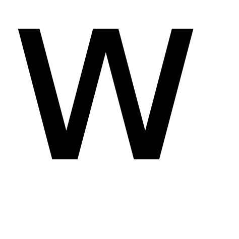 w - Wiktionary W Hotels Logo Png
