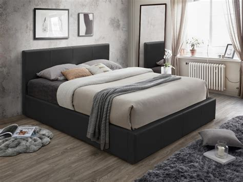 taille lits lit coffre tremplin ii 3 tailles simili blanc ou noir