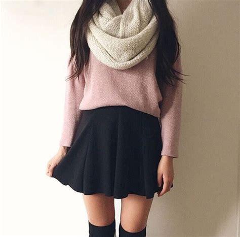 Rok Fashionable Cindia Navy Mini Skirt skirt black skirt skater skirt black pink white