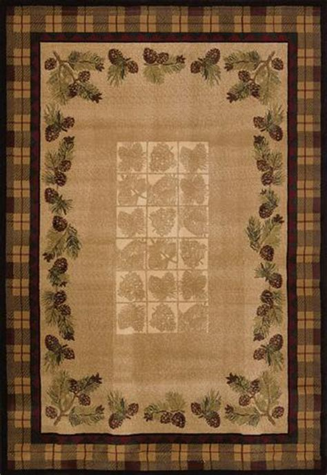 Pine Cone Area Rugs United Weavers Ashland Collection Fall Pine Cones Area Rug 5 3 Quot X 7 6 Quot At Menards 174