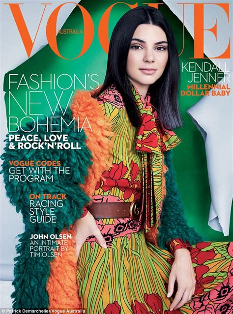 230 Vogue Covers History Of Fashion In Pictures by Kendall Jenner Sports A Black And Grey Wig On The Cover Of