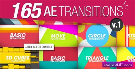 after effects transition templates videohive 165 transitions pack v1 after effects project