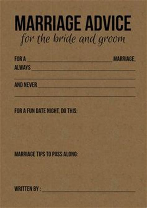 Wedding Album Advice by 17 Best Ideas About Advice Cards On Bridal
