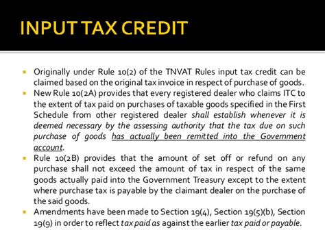 section 29 tax credit tnvat recent changes effective from 29 01 2016