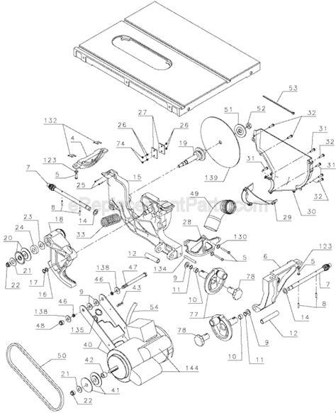 dewalt table saw parts dewalt dw746 parts list and diagram type 1
