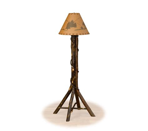 Hickory ridge rustic floor lamp farmhouse and cottage