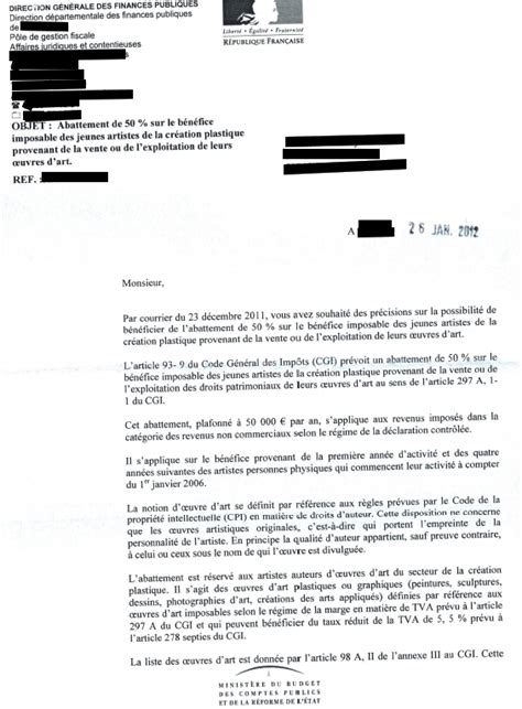Lettre De Dédommagement Free Des Pr 233 Cisions Sur L Abattement Fiscal Pour Les Auteurs Droit Et Photographie