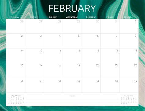 calendar february  printable  holidays template  platform  digital solutions