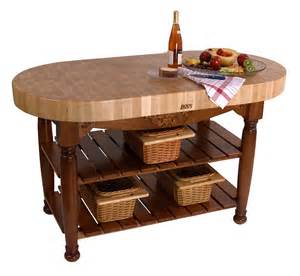 Boos Butcher Block Kitchen Island by Boos Harvest Table Oval Butcher Block Island