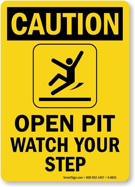 pit signs open trench and pit signs from mysafetysign