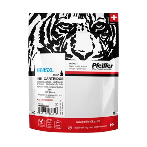 Hp 685 Black hp 685xl black ink cartridge by pfeiffer