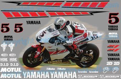 Yamaha Speedblock Aufkleber by Yamaha Valencia Race Decal Set 2005 Colin Edwards