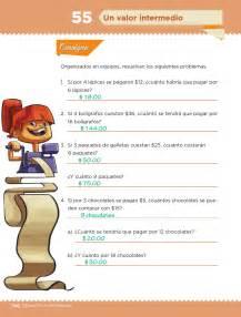 respuestas libro de matepracticas 3 un valor intermedio bloque iii lecci 243 n 55 apoyo primaria