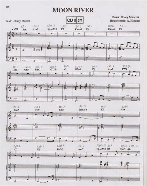 testo moon river spartiti musicali moon river spartito sheet