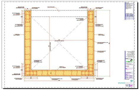 shear wall section elevator shaft reinforced concrete shear wall details