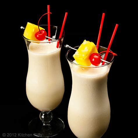pina colada cocktail kitchen riffs the pi 241 a colada cocktail