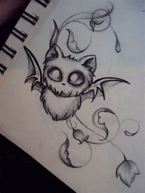 vire bat tattoo designs baby bat by ameliaeerie on deviantart tattoos d