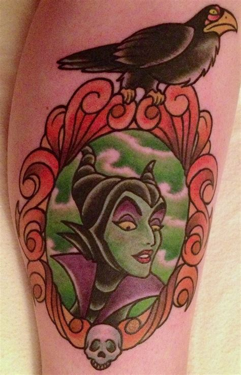 my maleficent tattoo disney maleficant pinterest