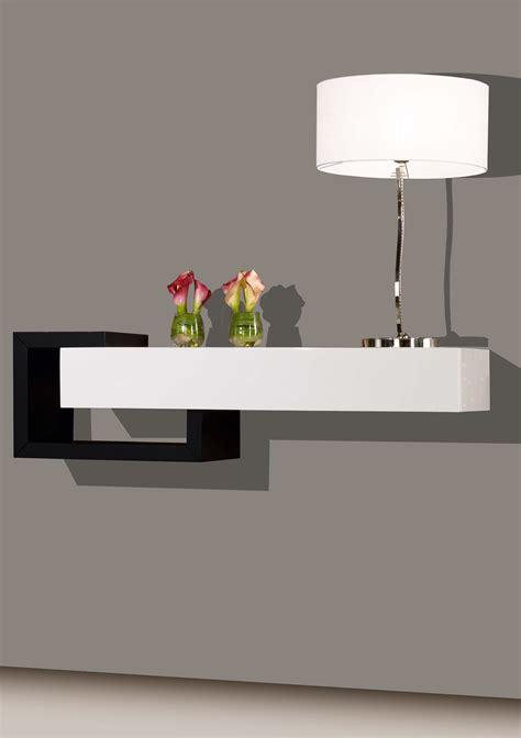 Console design laque blanc et noir brillants 1 tiroir