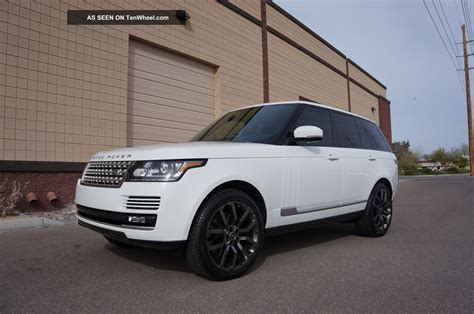 white land rover black rims 2013 range rover hse white over black 22 quot meridian