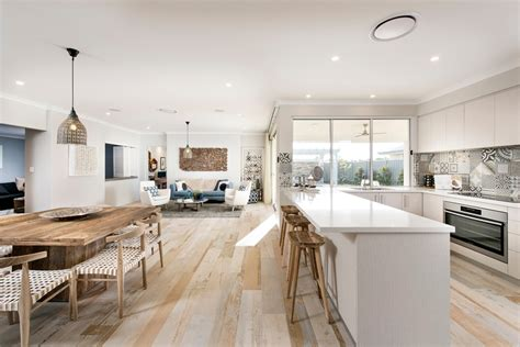 Kitchen And Dining Room Open Floor Plan Amazing Scandinavian Open Floor Plan Kitchen With White