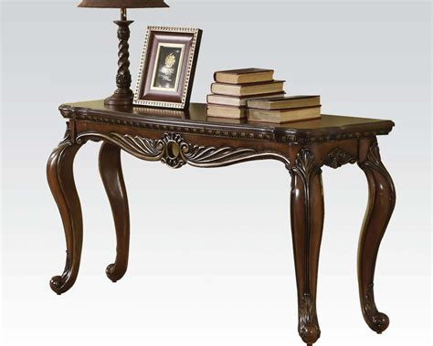 brown sofa table brown cherry sofa table remington by acme furniture ac80066