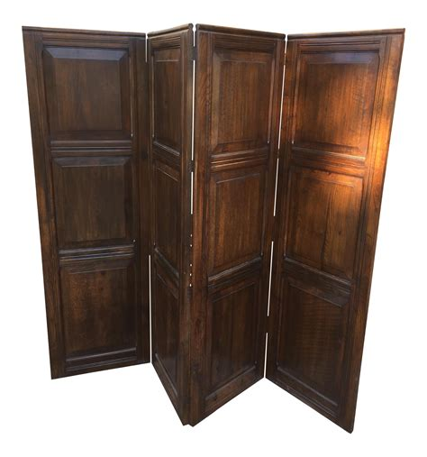 Oak Room Divider Solid Oak Room Divider Screen Chairish