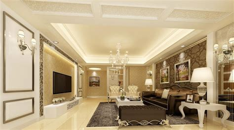 Living Room Design Classic living room classic design 3d rendering 3d house free