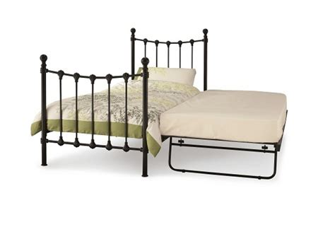Black Metal Single Bed Frame Serene Marseilles 3ft Single Black Metal Guest Bed Frame By Serene Furnishings