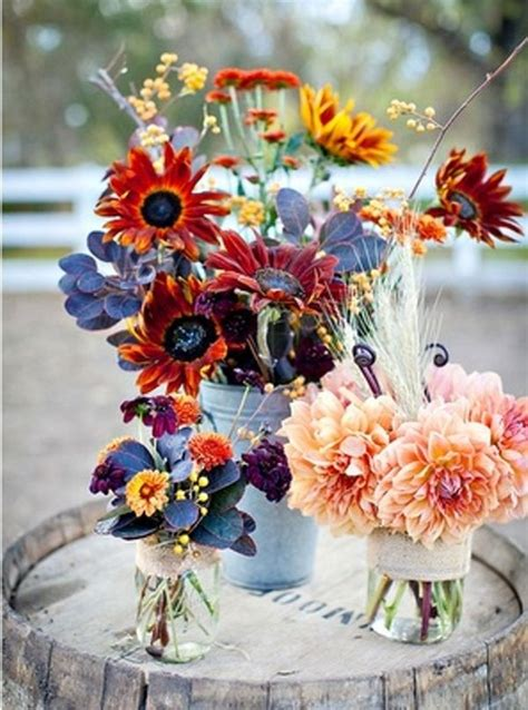 fall flowers centerpieces 20 centerpiece ideas for fall weddings