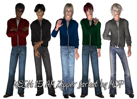 Hoodie Zipper Hair 313 Clothing 188 best ts2 clothing ma images on sims 2