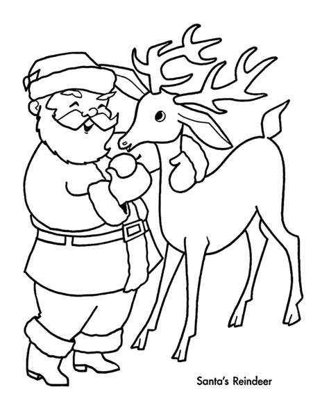 the holiday site santa s reindeer coloring pages