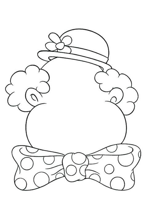 clown coloring pages pdf clown blank face coloring home