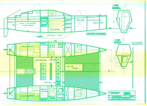 catamaran layout plans catamaran plan plywood boat design tekne pinterest