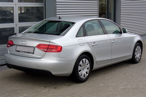 Audi A4 Tdi Limousine by File Audi A4 B8 Limousine Ambiente 2 0 Tdi Eissilber Heck