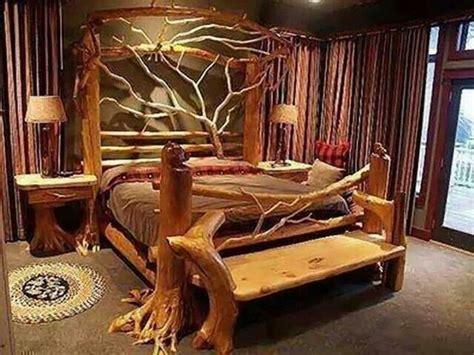 Natural wood bed frame      Interesting Designs