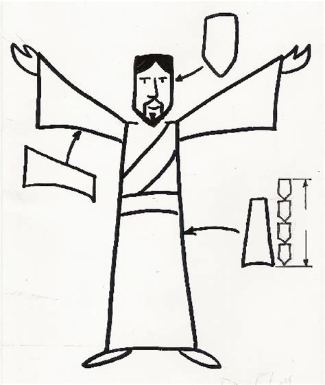 Easy To Draw Jesus by How To Draw Bible Messages