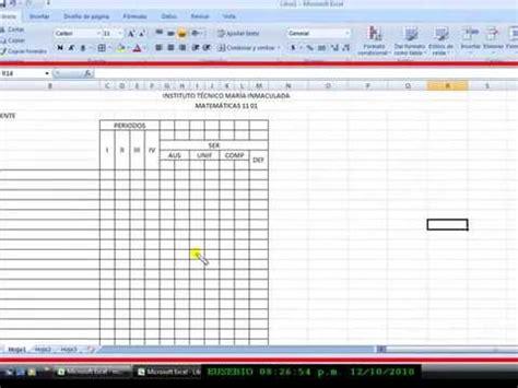 elaboracion de un registro automatico en excel parte 2 cuadros en excel 2007 1 wmv taller 3 funnycat tv