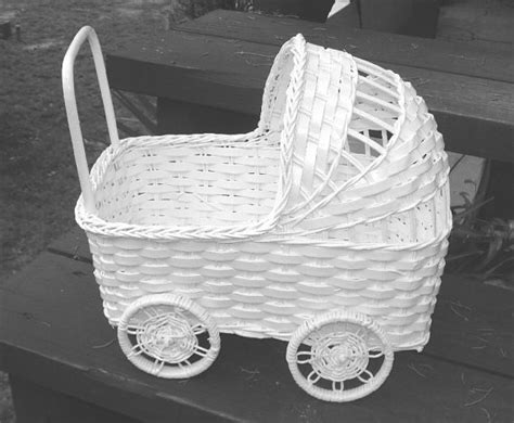 Baby Carriage Decorations by Vintage Wicker Baby Carriage For Baby Shower Decoration By Fljewel