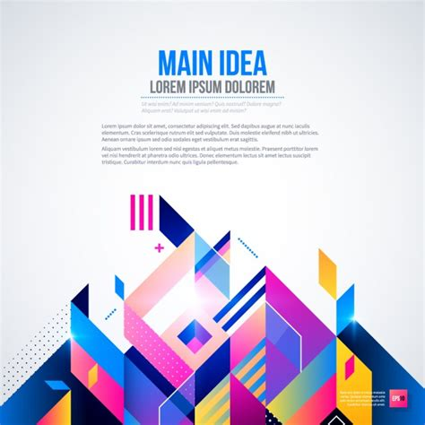 corporate background design vector free download background with bright colors and geometric style vector