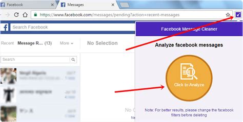 fb message cleaner how to delete all facebook messages at once 2017