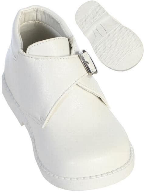 white buckle dress shoes for babies