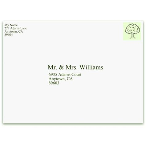 Business Letter Format Return Address Informal Envelope Formats Cv Template