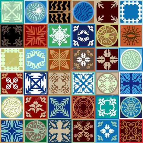 piastrelle smaltate piastrelle smaltate bohemien con mano disegnata elementi