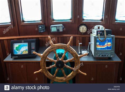 fishing boat interior interior of bridge pilothouse of fishing boat at navigo