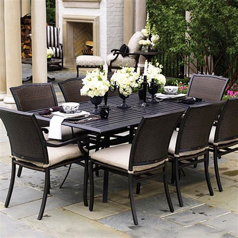 outdoor and patio furniture plaza dining wicker patio furniture by summer classics