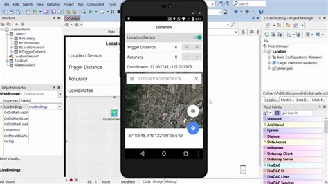 android location services getting started object pascal location services on ios and android